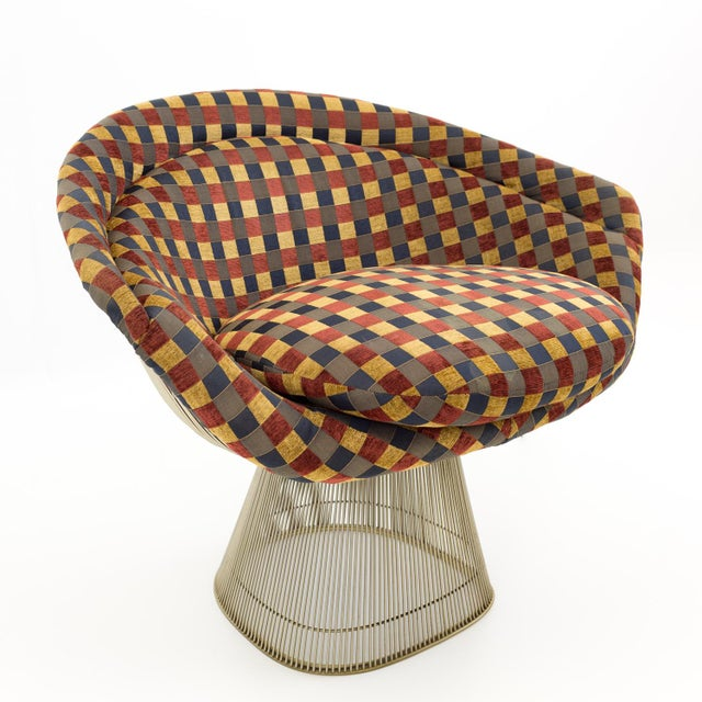 Red Warren Platner Mid Century Modern Lounge Chair For Sale - Image 8 of 8