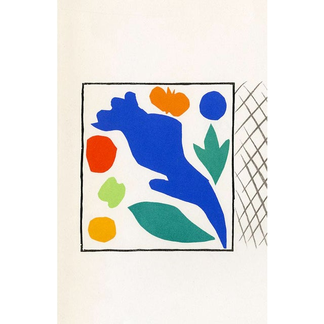 """Abstract """"Coquelicots"""" Henri Matisse. From """"Verve Vol. 35/36"""" (1958) For Sale - Image 3 of 4"""