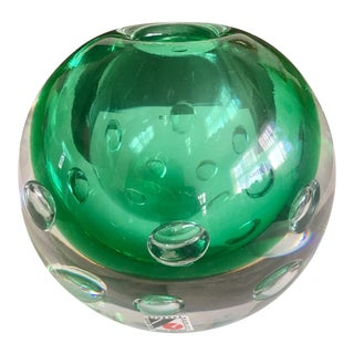 Karlov Svoboda Mid-Century Controlled Bubble Orb Vase For Sale
