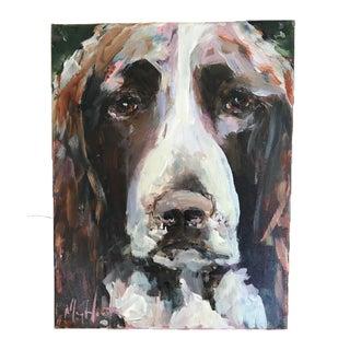 "Impressionist Acrylic Painting ""Springer Spaniel"" by Mary Houston"