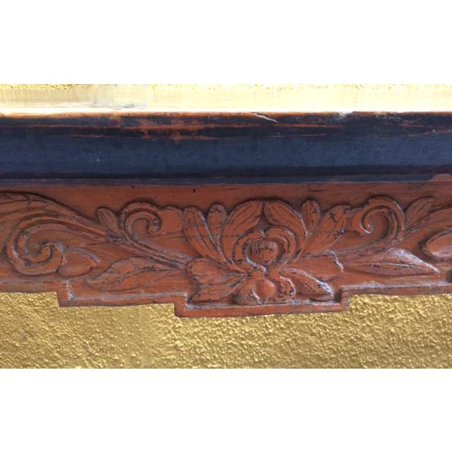 Asian Antique Chinese Wooden Bench For Sale - Image 3 of 11