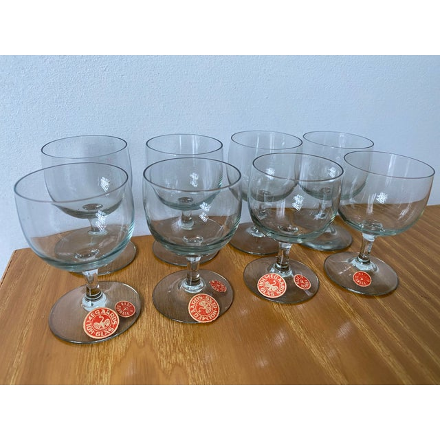 This sale is for a set of mid-century modern tiny cordial glasses. They are for Holmegaard out of an original owners...