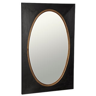 Royal Mirror, Charcoal Black With Gold Trim For Sale