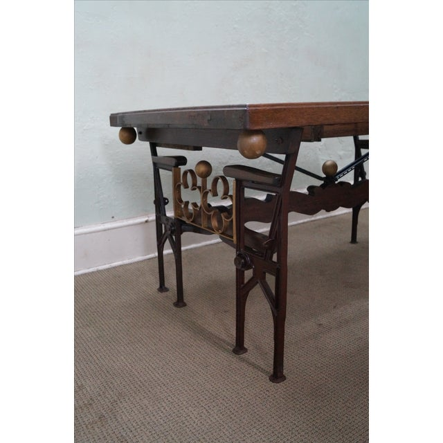 Hand Crafted Iron Base Gothic Writing Desk For Sale - Image 9 of 10