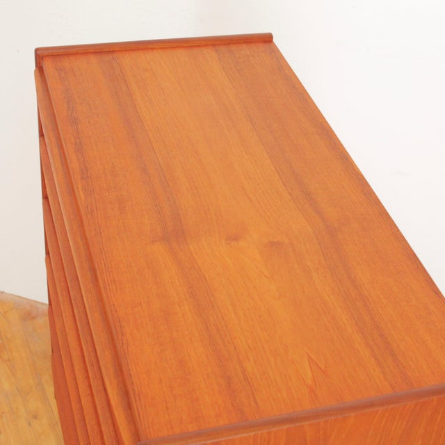 Vintage Danish Teak Highboy Dresser For Sale - Image 10 of 12