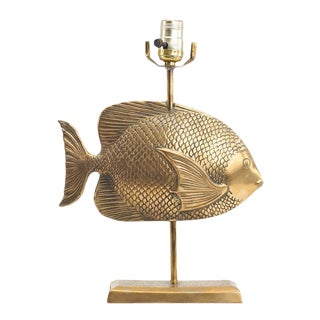 Vintage Brass Fish Lamp