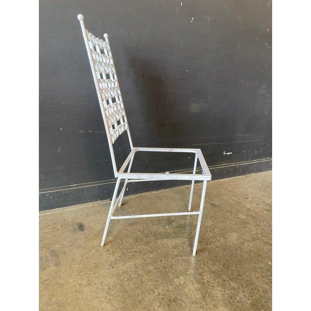 Metal Mid Century Modern Arthur Umanoff Iron Patio Table & 4 Chairs For Sale - Image 7 of 9