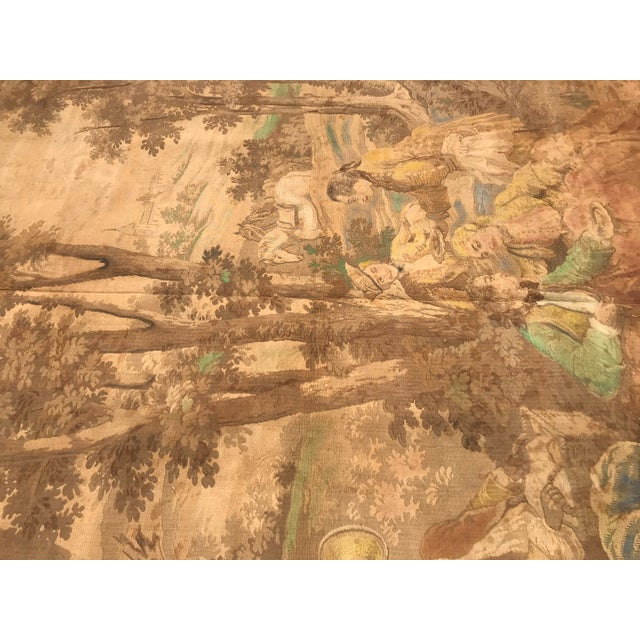 Antique Gobelin Wall Art Tapestry For Sale In Portland, ME - Image 6 of 8