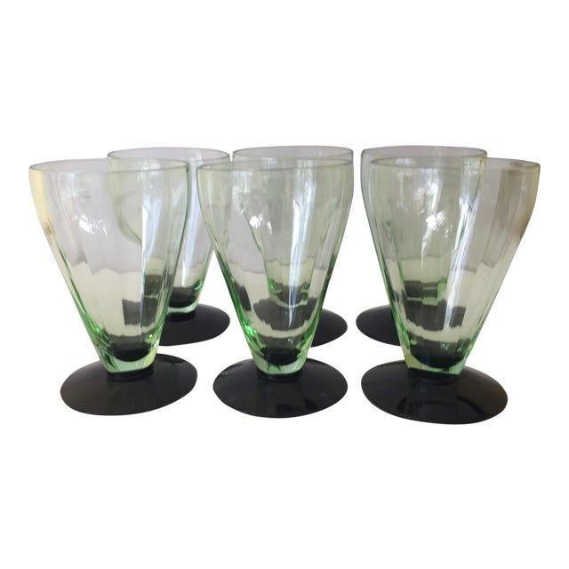 Emerald Green Cocktail Glasses - Set of 6 - Image 1 of 5