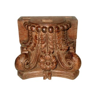 Carved English Capitol 19th Century For Sale