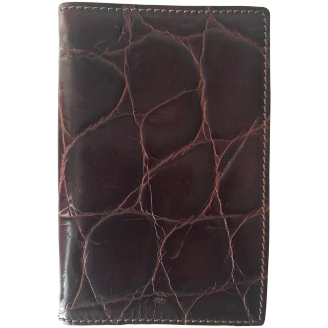 Vintage Italian Alligator Leather Address Book - Image 1 of 6
