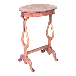 North European Biedermeier Karelian Birch Side Table For Sale