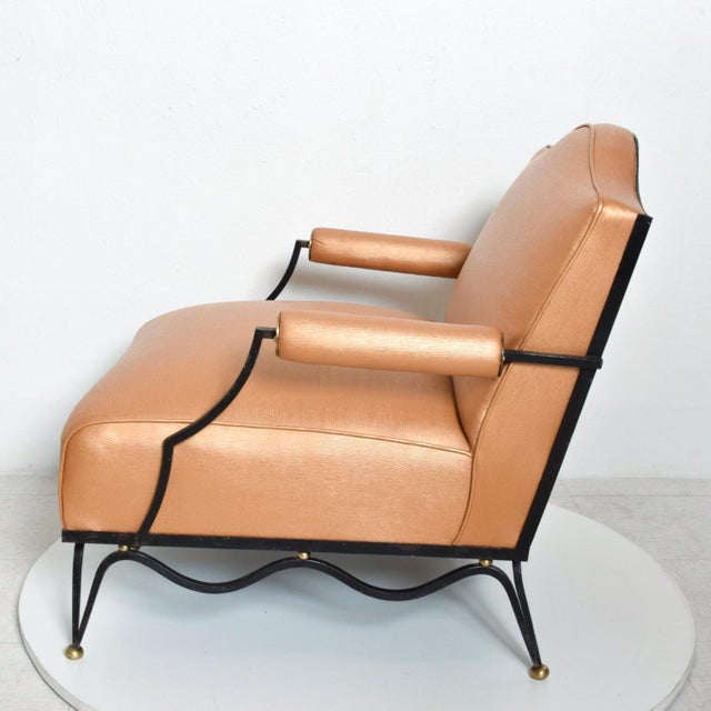 French Neoclassical Revival Mexican Modernist Arm Chairs Attr Arturo Pani - a Pair For Sale In San Diego - Image 6 of 12