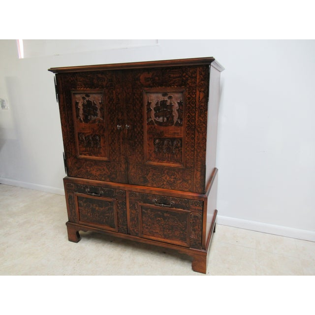 Abstract Hickory Chair Thomas O'Brien Collection Armoire For Sale - Image 3 of 13