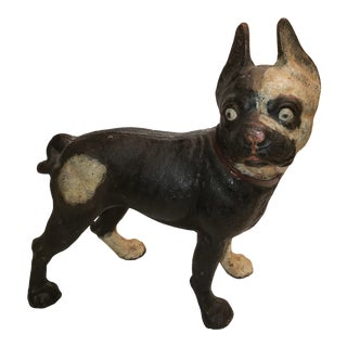 1950s Hubley Boston Terrier Doorstop For Sale