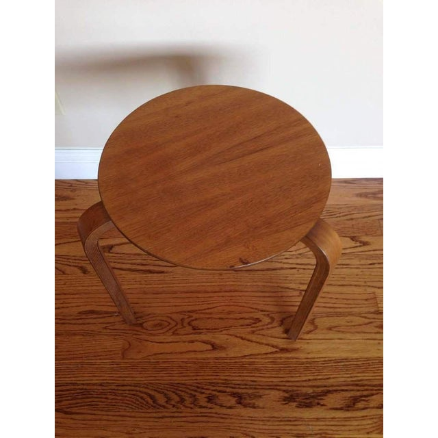 Alvar Aalto Style Tripod Accent Table - Image 4 of 4