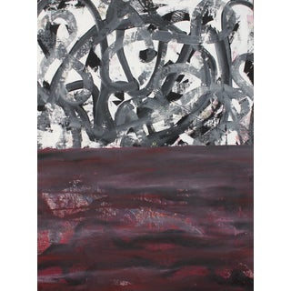 "Abstract Artist Bumpy Wilson ""The Wall"" Contemporary Paintin For Sale"