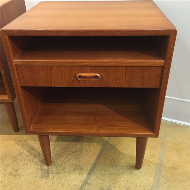 Danish Modern Teak Nightstands - Pair - Image 3 of 6