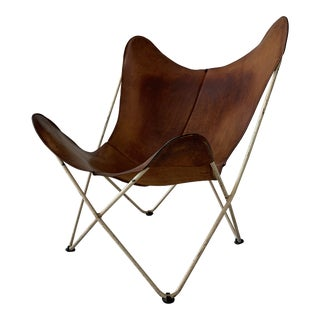 Vintage Mid Century Hardoy Bkf for Knoll Butterfly Chair For Sale