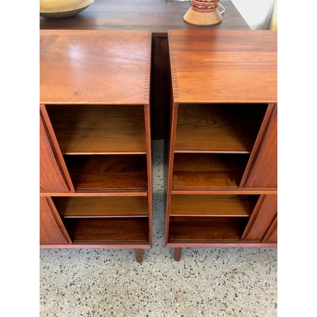 Brown 1950s Mid-Century Modern Hvidt & Mølgaard Teak Cabinets - a Pair For Sale - Image 8 of 13
