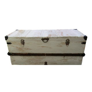 Farmhouse Style Steamer Trunk For Sale