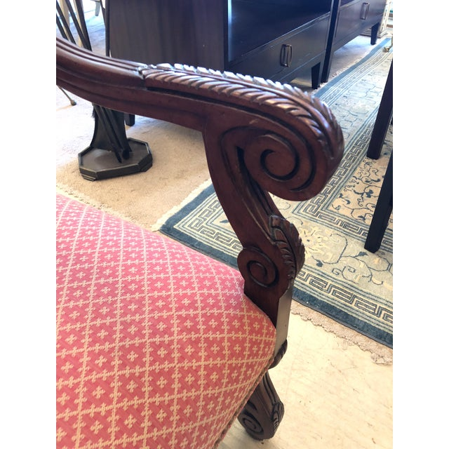 Modern Carved Wood and Upholstered Chippendale Style Dining Chairs- Set of 8 For Sale - Image 10 of 13
