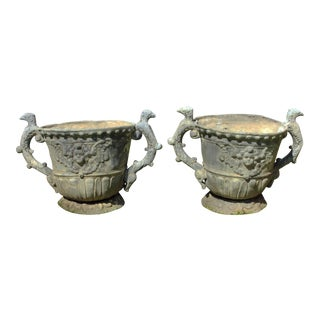 English Garden Urns . A Pair For Sale