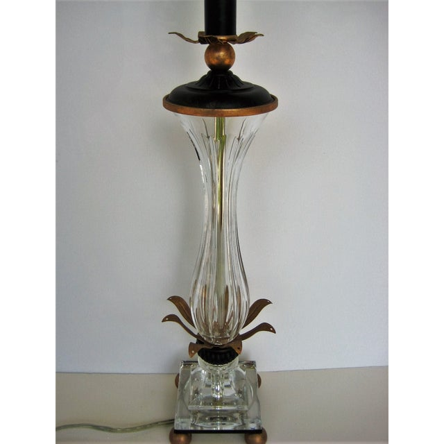 Hollywood Regency Schonbek Pirouette Swarovski Crystal Table Lamp For Sale - Image 3 of 8