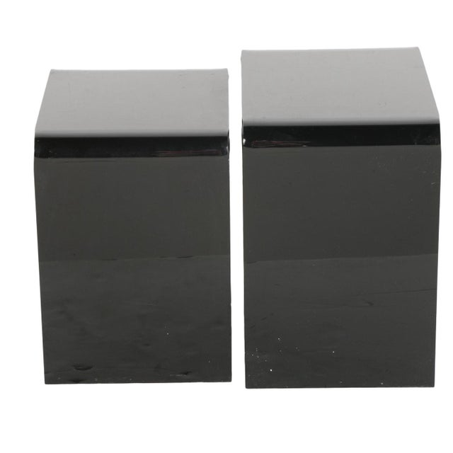 Smoked Lucite Nesting Tables - A Pair For Sale - Image 5 of 8