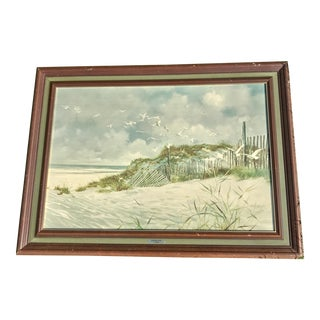 1960s Vintage Carolyn Blish Signed Beach Scene Print For Sale