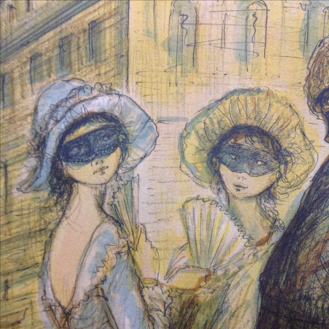 1977 Masquerade a Venice Litho Print by Jacques Lalande - Image 7 of 7