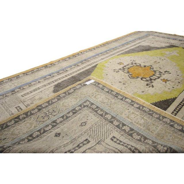 Mid 20th Century Vintage Mid-Century Turkish Oushak Area Rug - 5′1″ × 8′10″ For Sale - Image 5 of 7