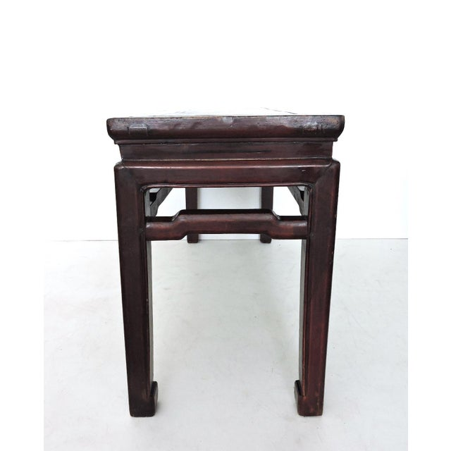 Asian Antique 'Ming' Rosewood Bench For Sale - Image 3 of 6