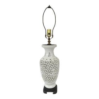 Vintage Blanc De Chine Table Lamp For Sale