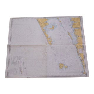 Nautical Map of Block Island, Unframed For Sale