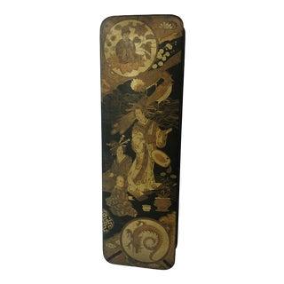 Antique Asian Lacquer Glove Box For Sale