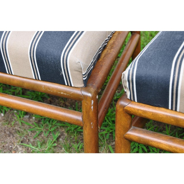 Walnut 1950s Mid-Century Modern t.h. Robsjohn-Gibbings for Widdicomb Dining Chairs - Set of 6 For Sale - Image 7 of 13