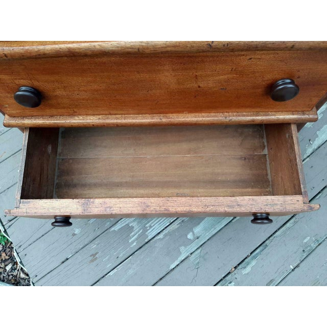 Late 1700's Early 1800's Antique Primitive Farmhouse Solid Chestnut Chest of 5 Drawers For Sale - Image 10 of 13