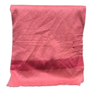 1950's Pink Hudson's Bay Wool Blanket For Sale