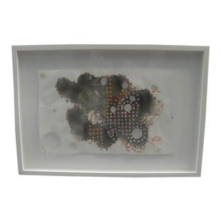 """Contemporary Abstract """"Perforated #2"""" on Rice Paper For Sale"""