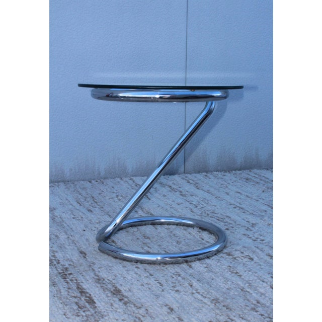 1970s Tubular Chrome Side Table For Sale In New York - Image 6 of 9