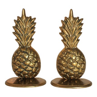 Brass Pineapple Bookends For Sale