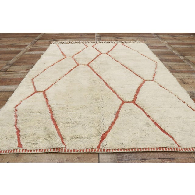 Textile Organic Modern Style Berber Moroccan Rug - 05'05 X 07'02 For Sale - Image 7 of 10