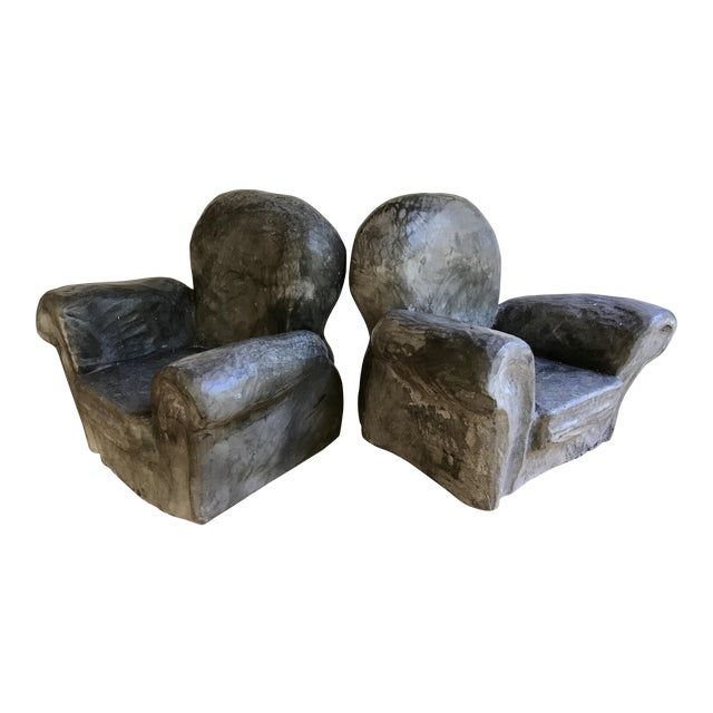 Gray Club Chair Bookends For Sale