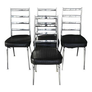 Set of Four Chromecraft Dining Chairs For Sale