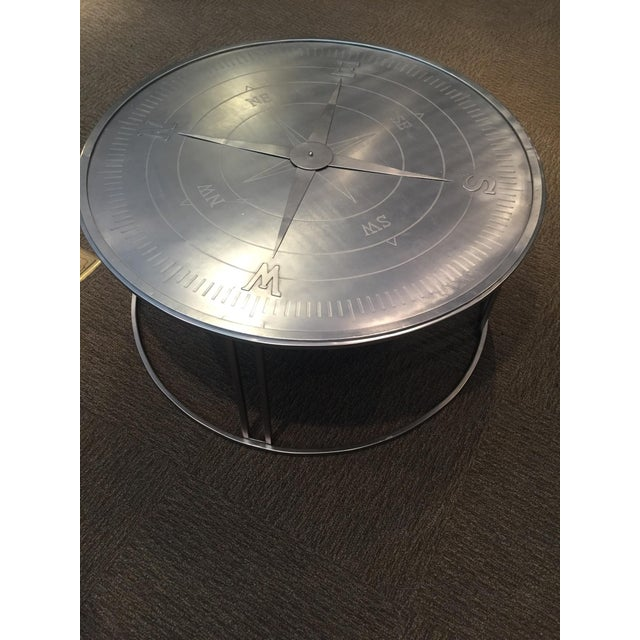 "Contemporary ""Compass"" Round Coffee Table For Sale - Image 3 of 4"