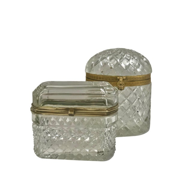 Late 19th Century 19th Century Large French Baccarat Crystal Box For Sale - Image 5 of 6