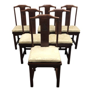 Set of 6 Elegant Chinese Side Chairs