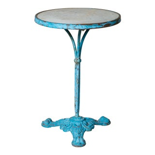 French Turquoise Marble Top Gueridon Table, circa 1900