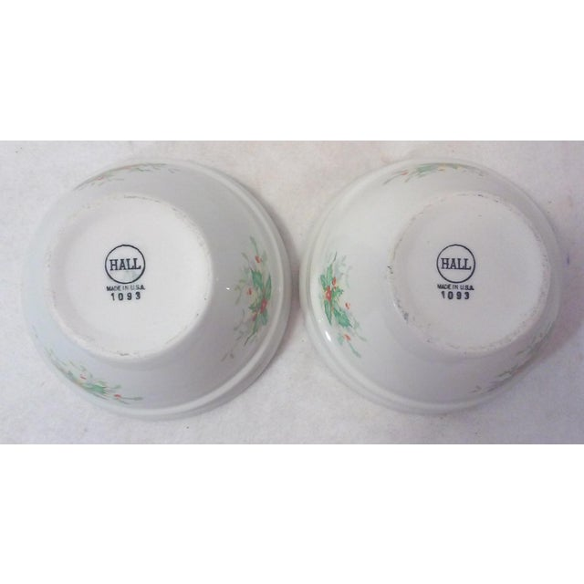 Holly Leaf Halls China Bowls - Pair - Image 2 of 5